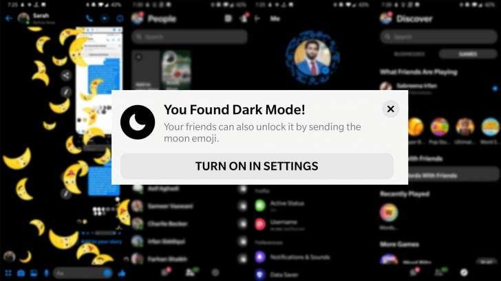 Facebook Messenger's all new dark mode 😎