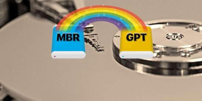 Comment convertir une table de partition MBR en GPT sans perte de données